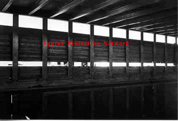 "The above photo shows the 3 inch metal ""I"" beams that support the top deck of the trailer. These beams protrude below the ceiling of the bottom deck. The beams are on 12 inch centers."