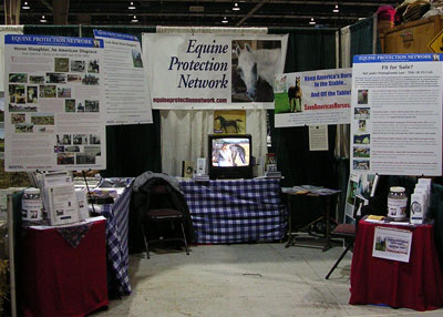 EPN Booth at the PA Horse World Expo in Harrisburg, PA