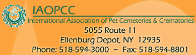 Contact information for International Association of Pet Cemetaries and Crematories